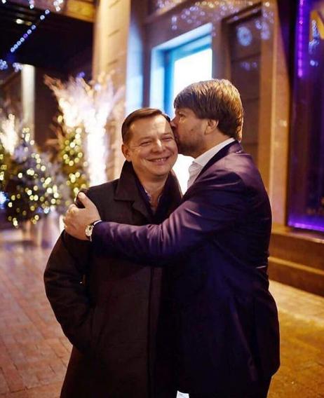 Олега Ляшко в висок поцеловал кум