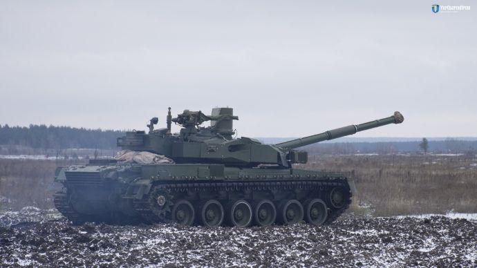 Украинский танк на испытаниях