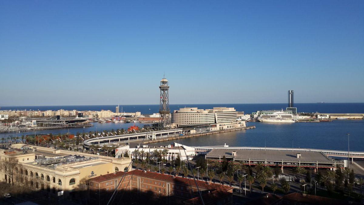 Порт Барселоны, иллюстрация.