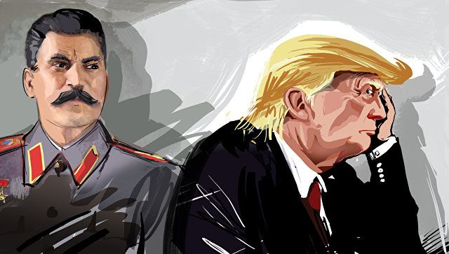 Иосиф Сталин и Дональд Трамп