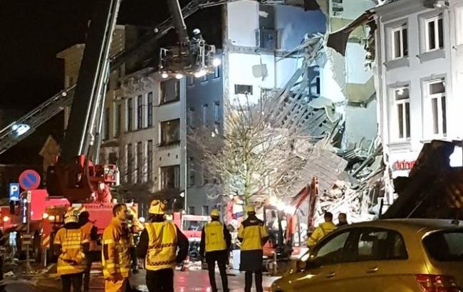 В Бельгии мощный взрыв разрушил здание