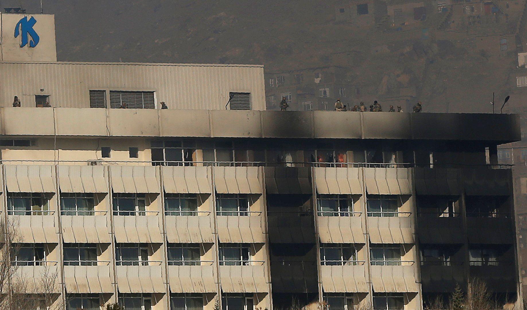 Результат атаки на отель в Кабуле