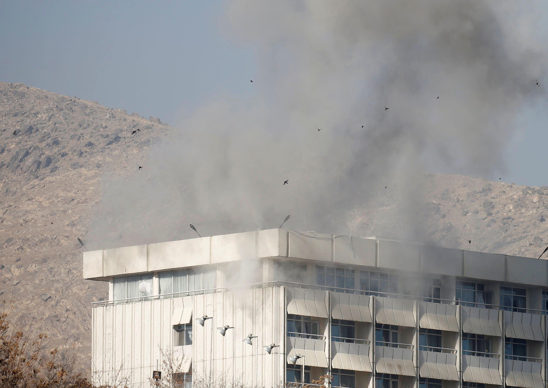 Теракт в отеле Кабула, иллюстрация.
