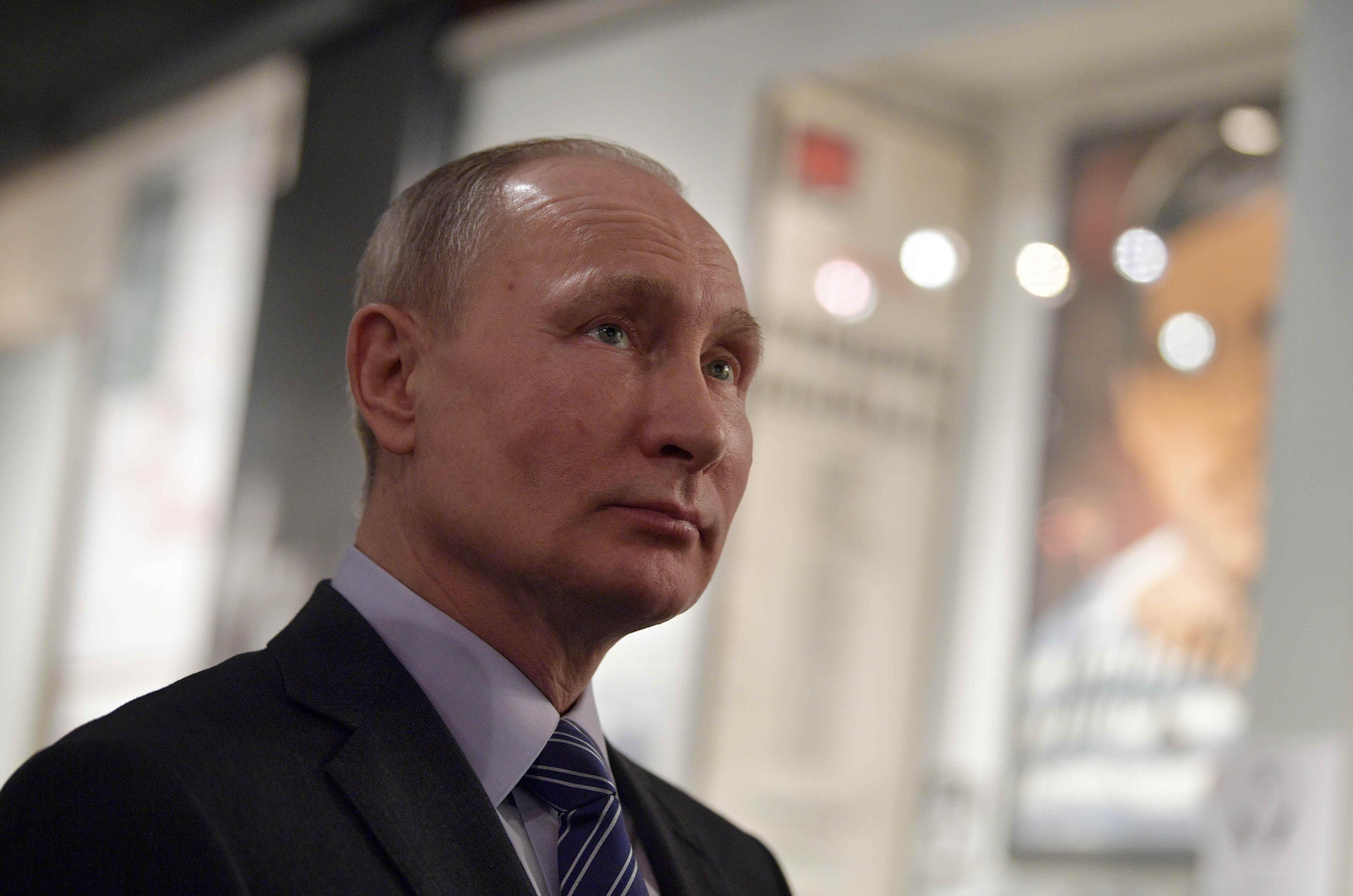 Лицо Владимира Путина на специфическом языке косметологов называется