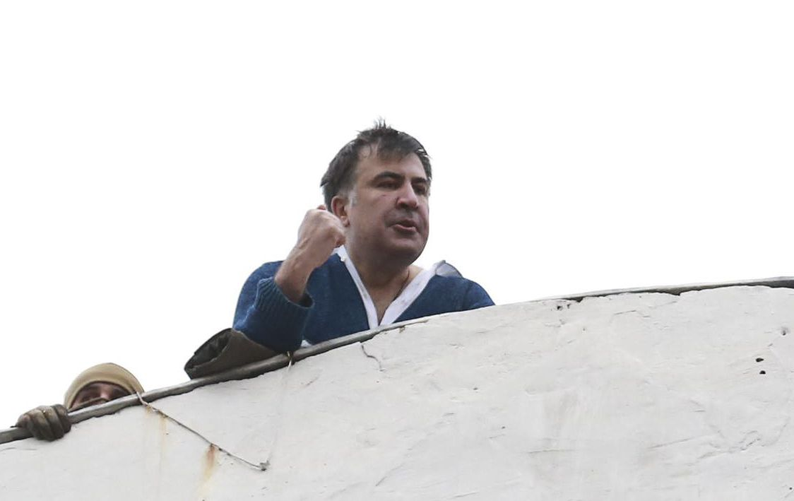 Михеил Саакашвили на крыше