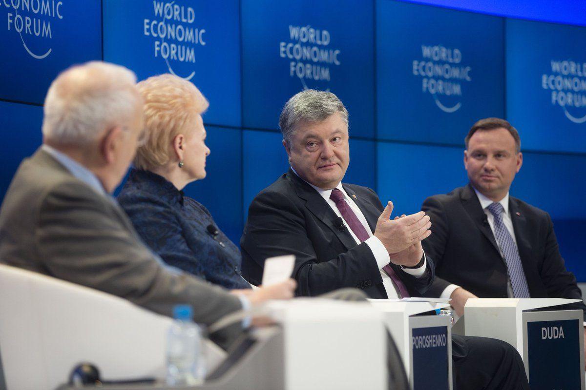 Петр Порошенко на полях Всемирного экономического форума в Давосе.