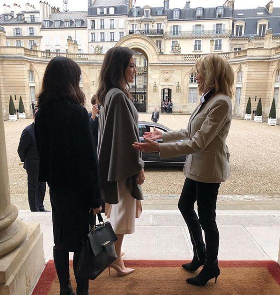 Анджелина Джоли встретилась с Бриджит Макрон