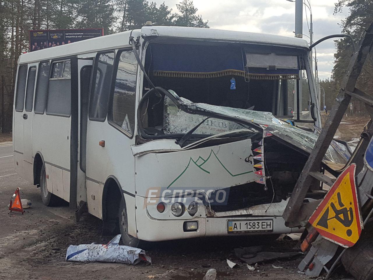 В Киеве в результате аварии на Минском шоссе пострадали пять человек