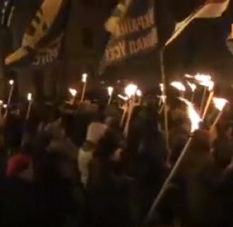 """Марш в столице организовали """"Свобода"""", """"Правый сектор"""" и """"Национальный корпус"""""""