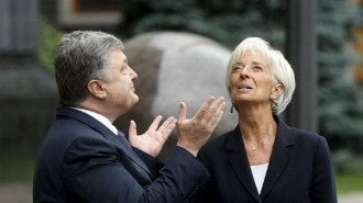 Порошенко, Лагард, МВФ