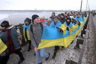Живая цепь ко Дню Соборности Украины