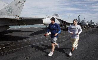 Американские военнослужащие во время пробежки