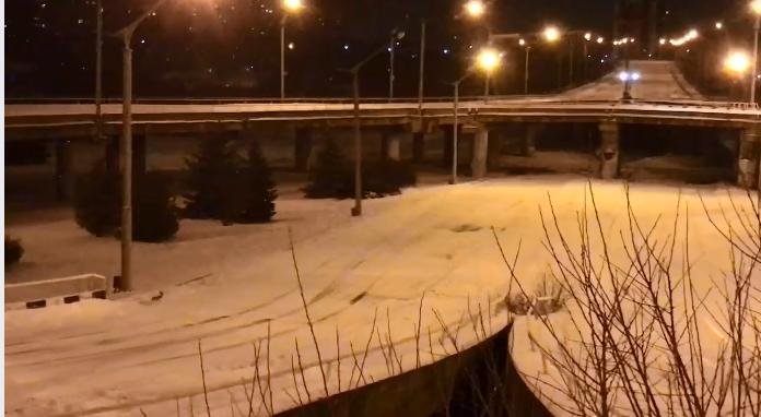 По пустынному Луганску бегают зайцы Фото: скрин видео Facebook/Денис Казанский