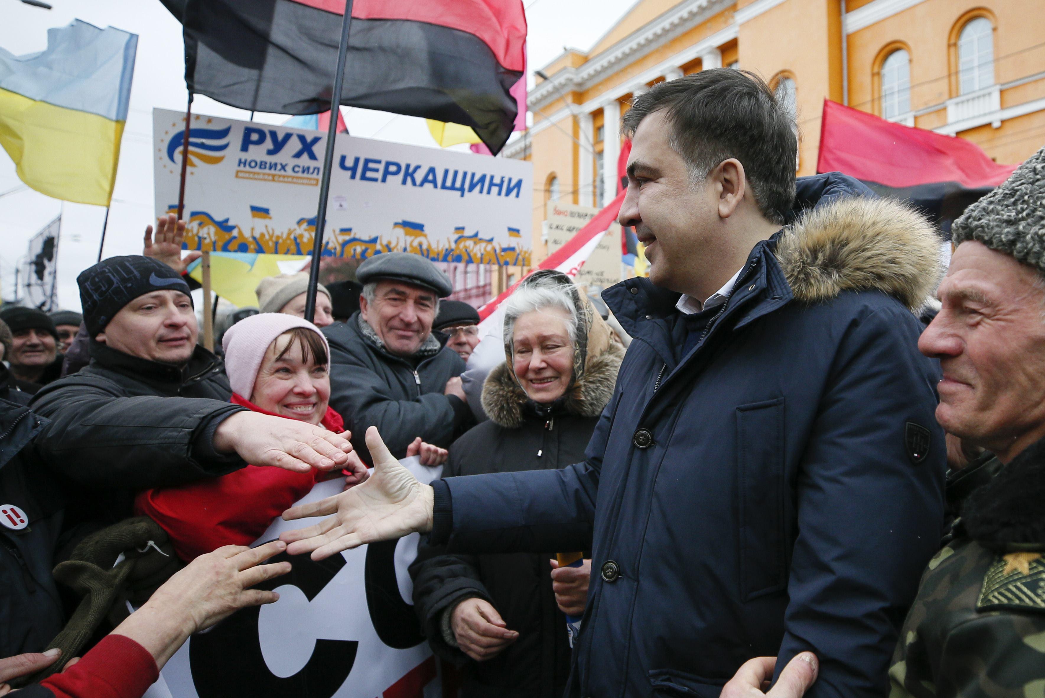 Саакашвили укрылся в отеле Fairmont.