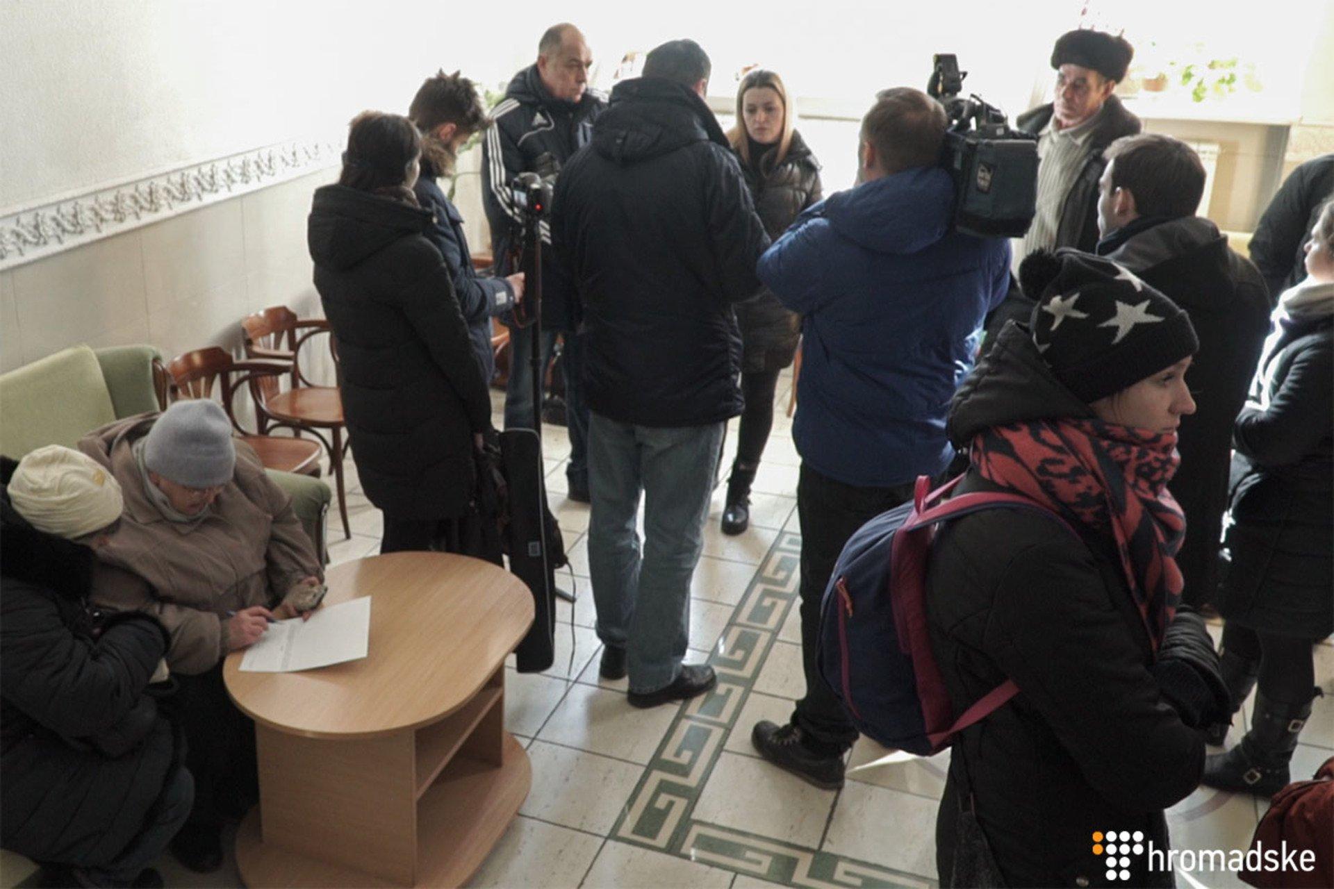 Родственники задержанных в Греции моряков.