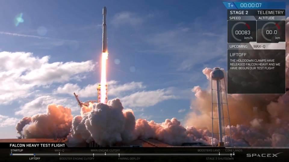 Запуск ракеты Маска Falcon Heavy прошел успешно, опубликованы фото и видео