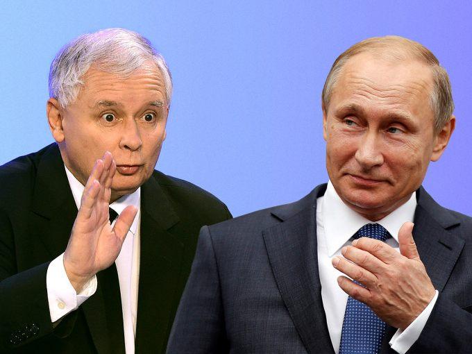 Ярослав Качиньский и Владимир Путин. Коллаж: Newsweek.pl
