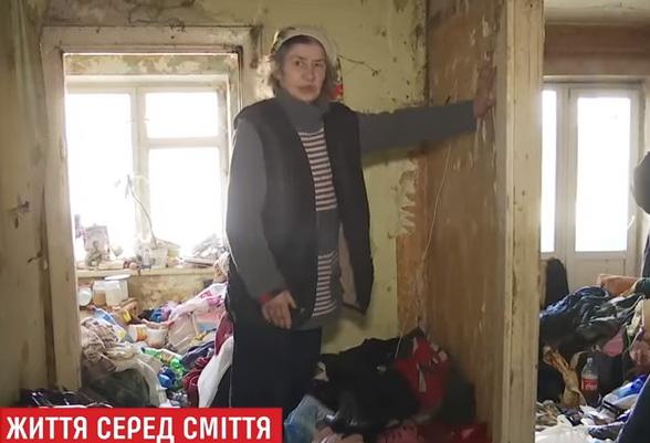 Киевлянка 2 года собирает мусор в своей квартире