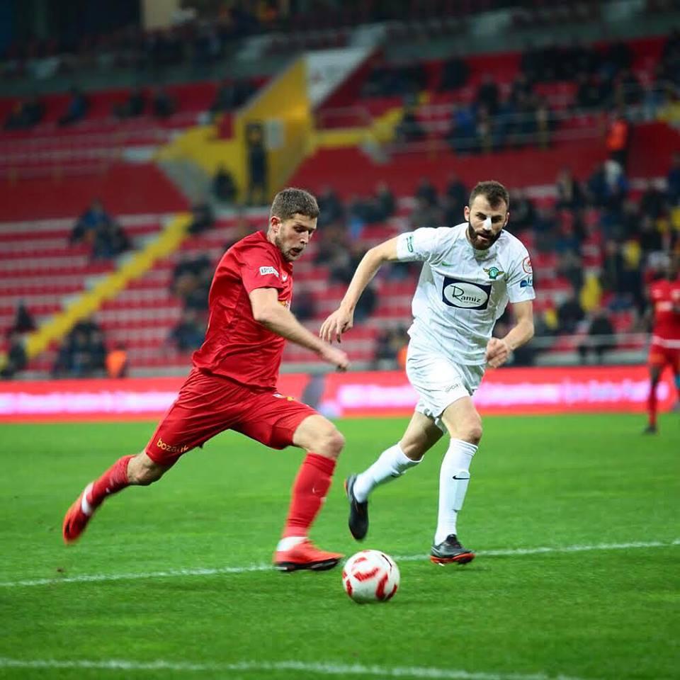 Артем Кравец (слева) отличился в Кубке Турции