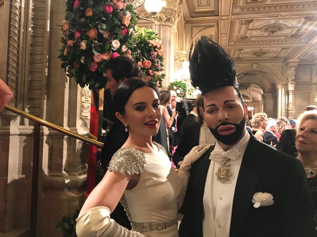 На Венском балу встречались довольно экзотические персонажи