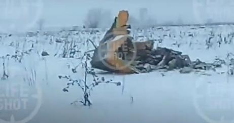 Фрагмент видео с места крушения Ан-148
