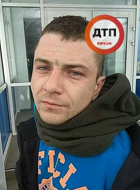 Задержанный виновник преступления. Фото: dtp.kev.ua