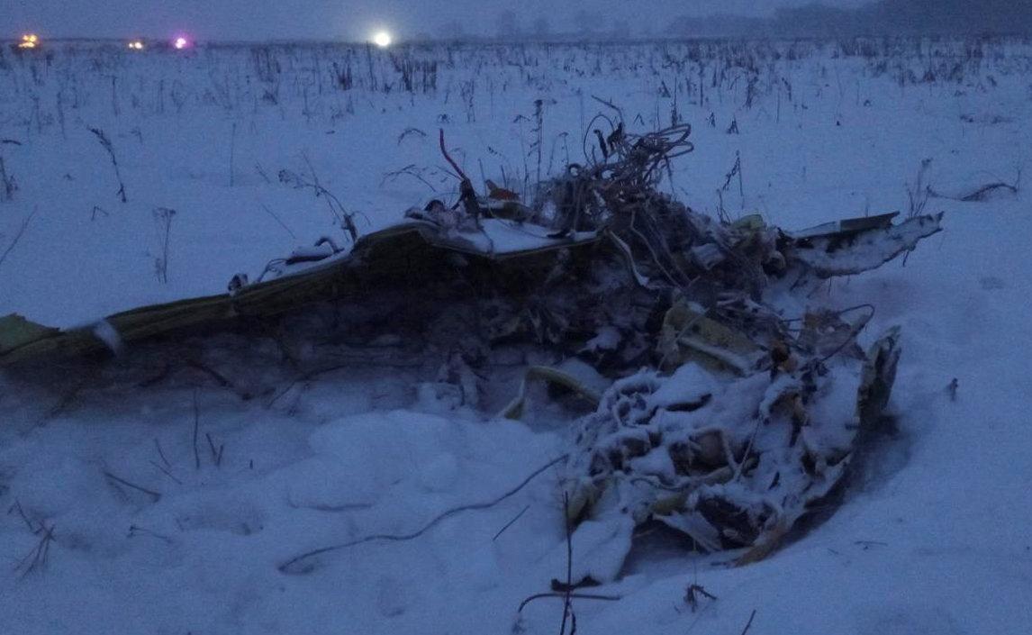 В России за несколько секунд до столкновения с землей у Ан-148 стал развиваться правый крен, подчеркнули в МАК