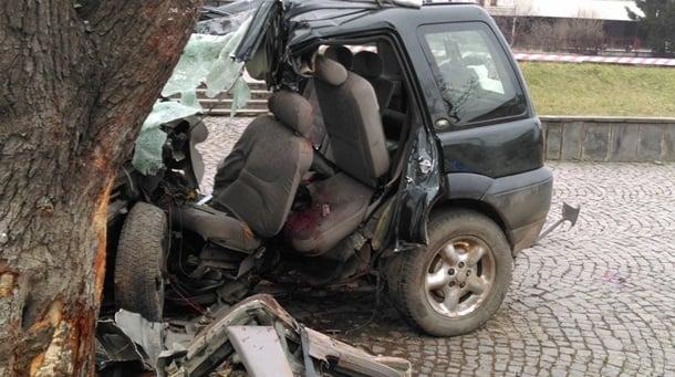 """Смертельное ДТП на Закарпатье. Авто с иностранцами """"впечаталось"""" в дерево: фото"""
