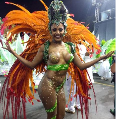 Тарин Лопес в 2016 году стала первой принцессой карнавала в Бразилии. Фото: Marina Bonini/Ed Globo