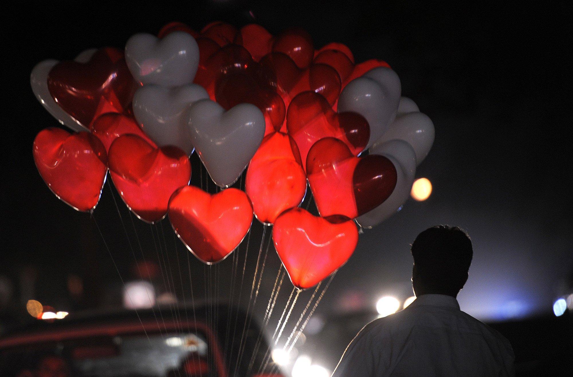 День святого Валентина в Украине начали  отмечать с 1990 года