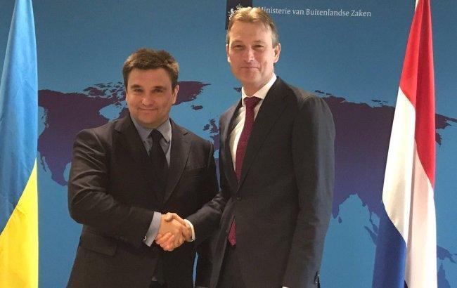 Министры иностранных дел Украины и Нидерландов Павел Климкин и Халбе Зейлстра. Фото: twitter.com/HalbeZijlstra