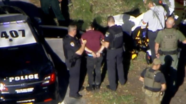 Преступник задержан полицией. Фото: CNN