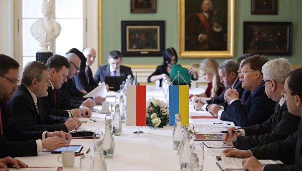 Польская и украинская делегации