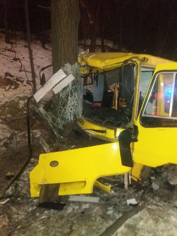 В Киеве в результате ДТП с маршрутками пострадали 12 человек