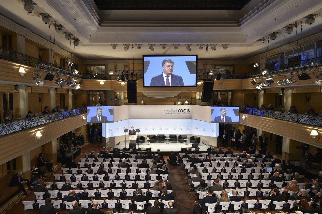 Порошенко в Мюнхене выступал практически в пустом зале