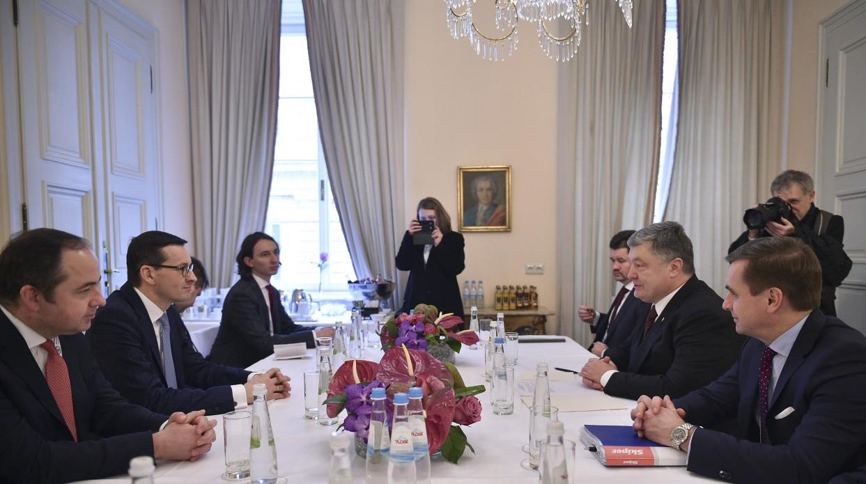 Петр Порошенко встретился с Матеушем Моравецким Фото: president.gov.ua