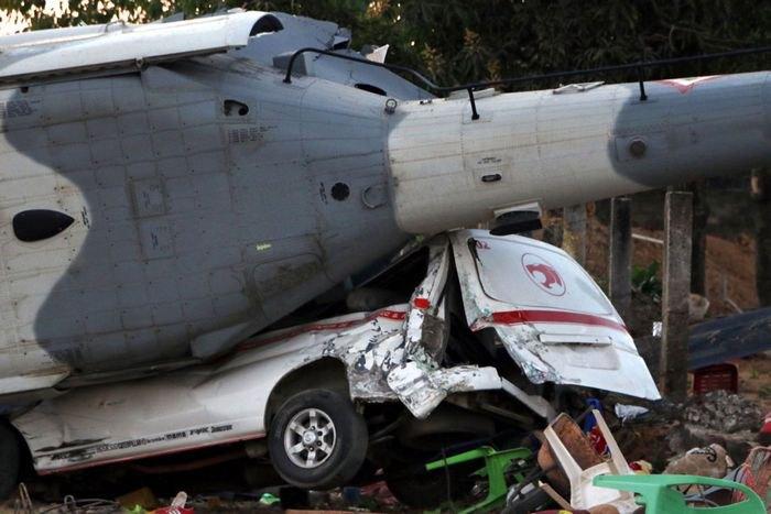 В Мексике упал вертолет с чиновниками на борту Фото: sky.com