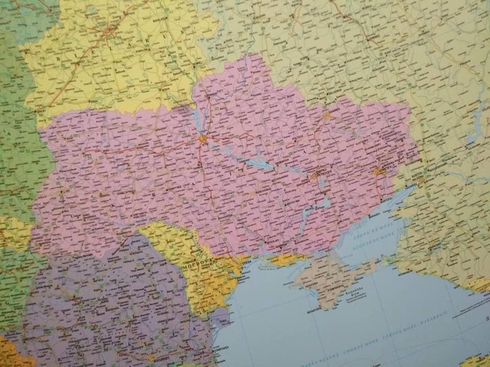 В Венгрии изьяли скандальную карту без Крыма, Одесской и Херсонской области, фото