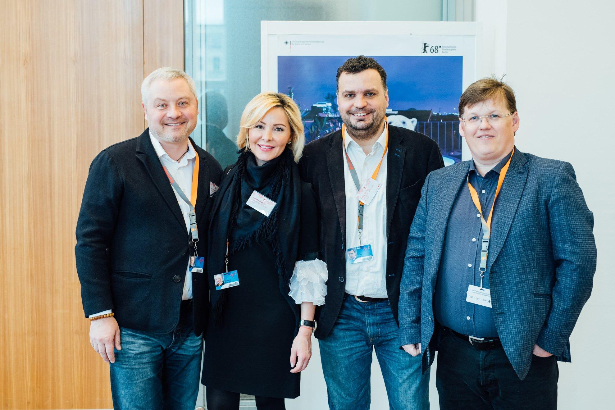 Игорь Янковский с супругой Светланой Сухиной, Филипп Ильенко, Павел Розенко