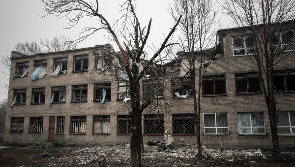 В Дебальцево после отступления ВСУ осталась разрушенная инфраструктура Фото: РИА Новости / Джон Траст