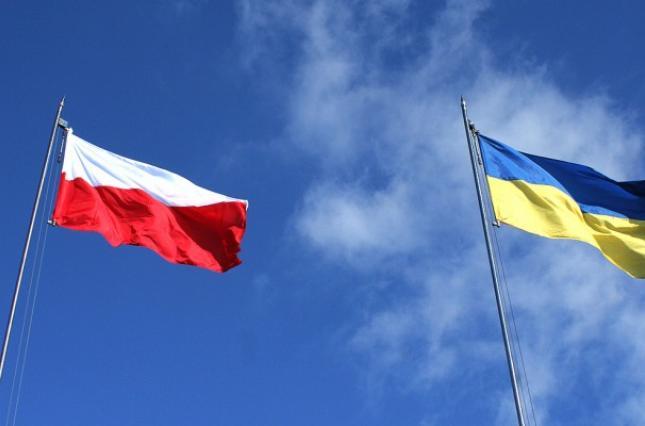 Флаги Польши и Украины