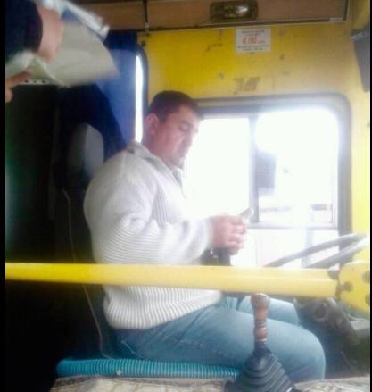 Водитель маршрутки выгнал участника АТО Фото: Facebook/Николай Виконский