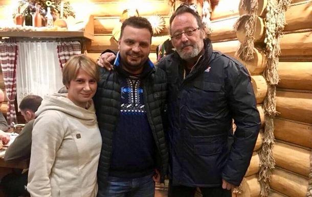 В Украину приехал актер Жан Рено (справа)