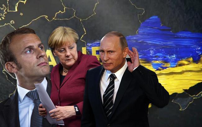 Меркель и Макрон поговорили по телефону с Путиным Фото: коллаж РБК-Украина