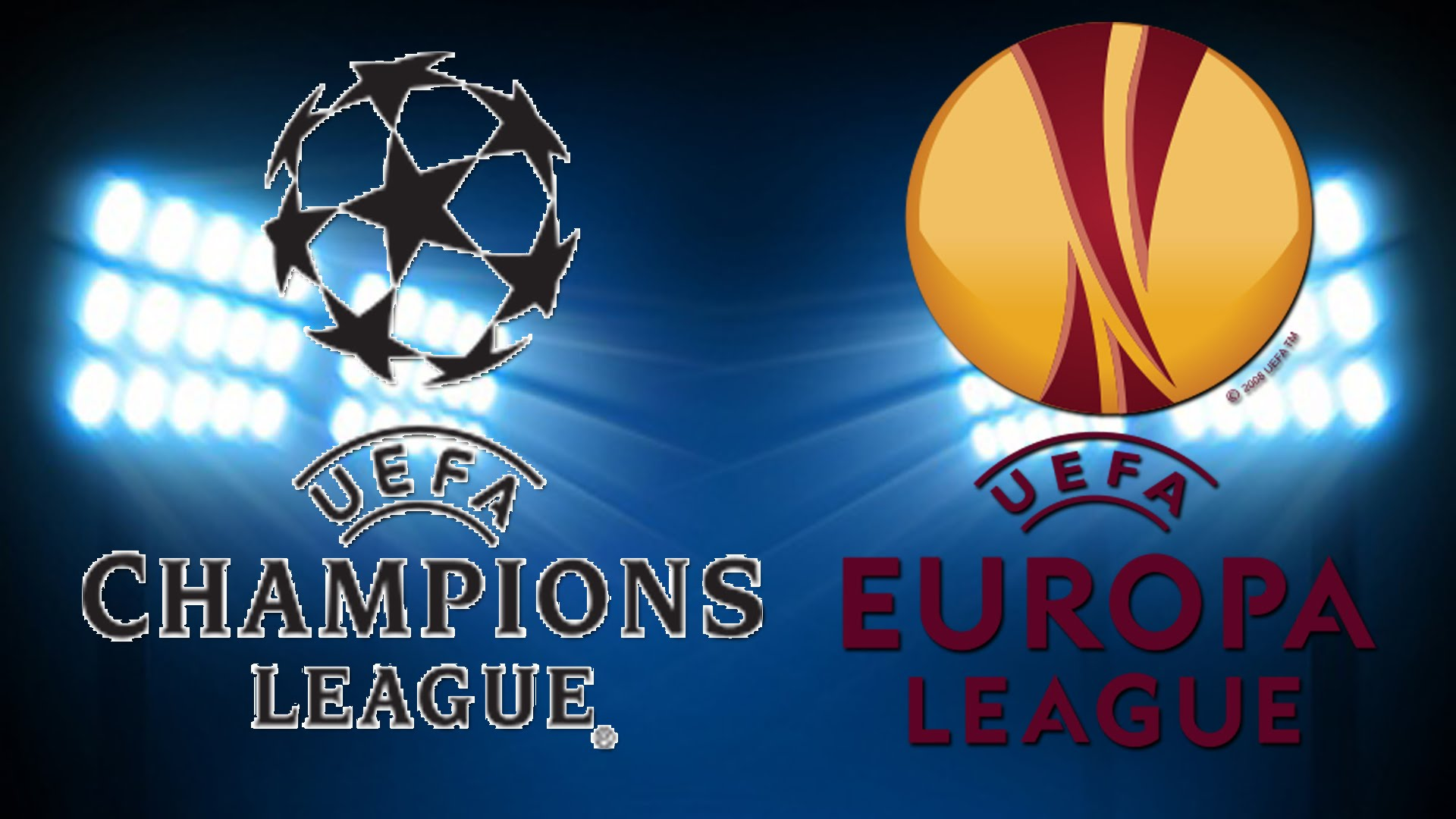 Логотипы Лиги Чемпионов и Лиги Европы