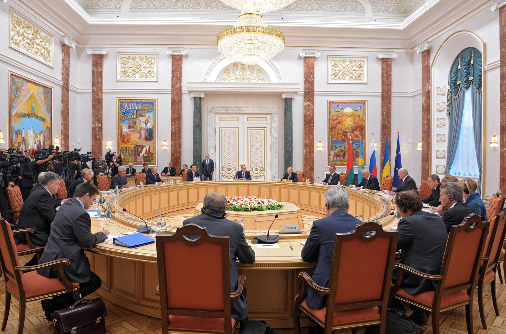 Перевогорвы Трехсторонней контактной группы в Минске