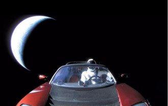 Tesla в космосе стала спутником. Фото: instagram.com/elonmusk