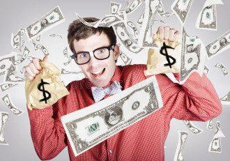 деньги, счастливый человек