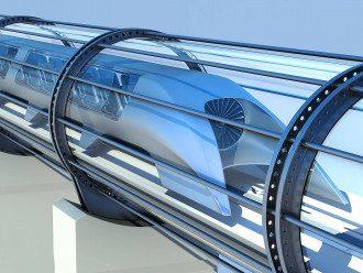 Приблизительно так будет выглядеть Hyperloop.