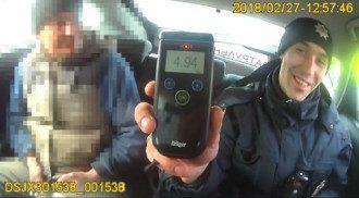 В организме водителя нашли 4,94 промилле алкоголя. Фото: скрин видео Facebook/Патрульная полиция Львовской области